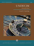 Cover icon of Undecim sheet music for concert band (full score) by Randall D. Standridge