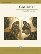 Cover icon of Gaudete sheet music for concert band (full score) by Brian Beck
