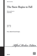 Cover icon of The Snow Begins to Fall sheet music for choir (2-Part) by Andy Beck