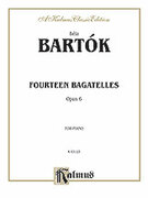 Cover icon of 14 Bagatelles, Op. 6 (COMPLETE) sheet music for piano solo by Bela Bartok