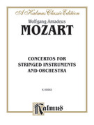 Cover icon of Concertos for Stringed Instruments and Orchestra (COMPLETE) sheet music for orchestra by Wolfgang Amadeus Mozart, classical score, intermediate skill level
