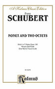Cover icon of Nonet and Two Octets (COMPLETE) sheet music for wind octet by Franz Schubert, classical score, intermediate