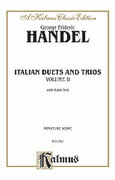 Cover icon of Italian Duets and Trios, Volume II (COMPLETE) sheet music for voice and piano by George Frideric Handel, classical score, intermediate skill level