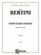 Cover icon of Forty-eight Studies, Op. 29 and 32 (COMPLETE) sheet music for piano solo by Henri Bertini