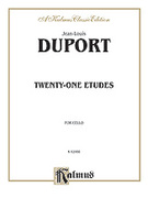 Cover icon of Twenty-one Etudes (COMPLETE) sheet music for cello by Jean-Louis Duport