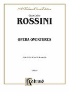 Cover icon of Opera Overtures (COMPLETE) sheet music for piano four hands by Gioacchino Rossini