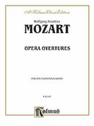 Cover icon of Opera Overtures (COMPLETE) sheet music for piano four hands by Wolfgang Amadeus Mozart