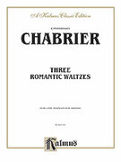 Cover icon of Three Romantic Waltzes (COMPLETE) sheet music for piano four hands by Anton Bruckner