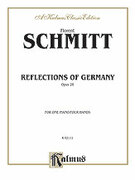 Cover icon of Reflections of Germany, Op. 28 (COMPLETE) sheet music for piano four hands by Florent Schmitt