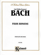 Cover icon of Four Sonatas (COMPLETE) sheet music for flute and piano by Carl Philip Emanuel Bach and Carl Philip Emanuel Bach