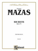 Cover icon of Six Duets, Op. 71 (COMPLETE) sheet music for two violins by Jaques Fereol Mazas