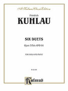Cover icon of Six Duets, Op. 57bis and 81 (COMPLETE) sheet music for two flutes by Friedrich Daniel Rudolf Kuhlau and Friedrich Daniel Rudolf Kuhlau