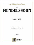 Cover icon of Marches (COMPLETE) sheet music for piano four hands by Felix Mendelssohn-Bartholdy