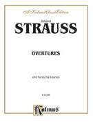 Cover icon of Overtures (COMPLETE) sheet music for piano four hands by Johann Strauss, Jr.