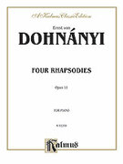 Cover icon of Four Rhapsodies, Op. 11 (COMPLETE) sheet music for piano solo by Ernst von Dohnanyi