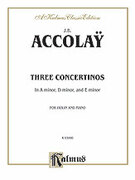 Cover icon of Three Concertinos (COMPLETE) sheet music for violin and piano by J.B. Accolay