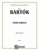 Cover icon of Four Nenies, Op. 8 (COMPLETE) sheet music for piano solo by Bela Bartok and Bela Bartok, classical score, intermediate piano