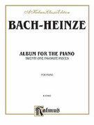Cover icon of Album for the Piano (COMPLETE) sheet music for piano solo by Johann Sebastian Bach, classical score, intermediate skill level