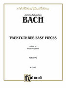 Cover icon of Twenty Three Easy Pieces (COMPLETE) sheet music for piano solo by Johann Sebastian Bach, classical score, intermediate