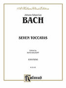 Cover icon of Seven Toccatas (COMPLETE) sheet music for piano solo by Johann Sebastian Bach