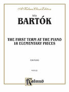 Cover icon of The First Term (COMPLETE) sheet music for piano solo by Bela Bartok, classical score, intermediate