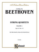 Cover icon of String Quartets, Volume I, Op. 18 (COMPLETE) sheet music for string quartet by Ludwig van Beethoven