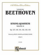 Cover icon of String Quartets, Volume III (COMPLETE) sheet music for string quartet by Ludwig van Beethoven