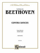 Cover icon of Contra Dances (COMPLETE) sheet music for piano solo by Ludwig van Beethoven, classical score, intermediate piano