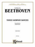 Cover icon of Three German Dances (COMPLETE) sheet music for piano solo by Ludwig van Beethoven