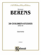 Cover icon of 20 Children's Studies, Op. 79 (COMPLETE) sheet music for piano solo by Johann Herman Berens