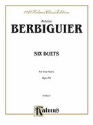 Cover icon of Six Duets, Op. 59 (COMPLETE) sheet music for two flutes by T.B. Berbiguier