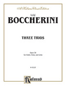 Cover icon of Three Trios, Op. 38 (COMPLETE) sheet music for Violin, Viola, and Cello by Luigi Boccherini