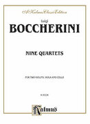 Cover icon of Nine Selected String Quartets (COMPLETE) sheet music for string quartet by Luigi Boccherini, classical score, easy/intermediate string quartet