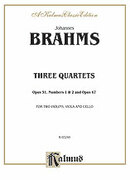 Cover icon of Three String Quartets, Op. 51, Nos. 1 and 2, Op. 67 (COMPLETE) sheet music for string quartet by Johannes Brahms