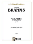 Cover icon of Variations on a Theme of Haydn, Op. 56B (COMPLETE) sheet music for two pianos, four hands by Johannes Brahms