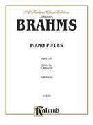 Cover icon of Intermezzi, Rhapsody, Op. 119 (COMPLETE) sheet music for piano solo by Johannes Brahms