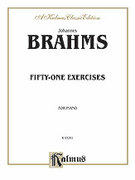 Cover icon of Fifty-one Etudes (COMPLETE) sheet music for piano solo by Johannes Brahms, classical score, intermediate