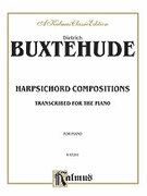 Cover icon of Compositions (COMPLETE) sheet music for piano solo by Dietrich Buxtehude, classical score, intermediate piano