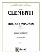 Cover icon of Gradus ad Parnassum, Volume I (COMPLETE) sheet music for piano solo by Muzio Clementi