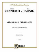 Cover icon of Gradus ad Parnassum, Twenty-nine Selected Studies (COMPLETE) sheet music for piano solo by Muzio Clementi