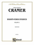 Cover icon of Eighty-Four Studies, Volume I (COMPLETE) sheet music for piano solo by Johann Baptist Cramer, classical score, intermediate