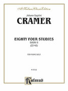 Cover icon of Eighty-Four Studies, Volume II (COMPLETE) sheet music for piano solo by Johann Baptist Cramer