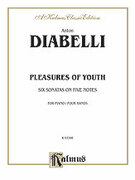 Cover icon of Pleasures of Youth (COMPLETE) sheet music for piano four hands by Antonio Diabelli and Antonio Diabelli, classical score, easy/intermediate