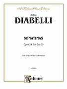 Cover icon of Sonatinas, Op. 24, 54, 58, 60 (COMPLETE) sheet music for piano four hands by Antonio Diabelli