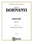 Cover icon of Serenade, Op. 10 (COMPLETE) sheet music for string trio by Ernst von Dohnanyi