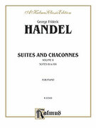 Cover icon of Suites and Chaconnes (COMPLETE) sheet music for piano solo by George Frideric Handel