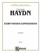 Cover icon of Eight Various Compositions (COMPLETE) sheet music for piano solo by Franz Joseph Haydn, classical score, intermediate piano