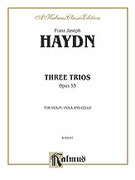 Cover icon of Three Trios, Op. 53 (COMPLETE) sheet music for string trio by Franz Joseph Haydn