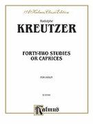Cover icon of Forty-Two Studies or Caprices (COMPLETE) sheet music for violin by Rudolf Kreutzer and Rudolf Kreutzer, classical score, intermediate skill level