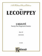 Cover icon of L'Agilite, Op. 20 (COMPLETE) sheet music for piano solo by Felix Le Couppey, classical score, intermediate piano